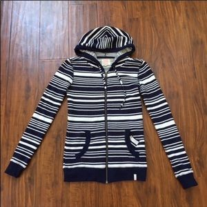 Quiksilver Blue & White Hoodie Size XS